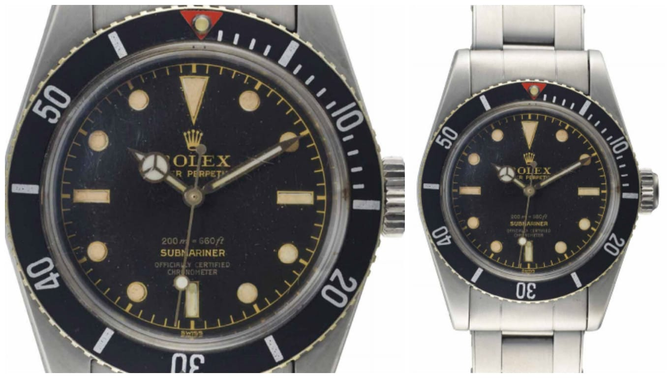Lot 123 Rolex Submariner 6538 Big Crown