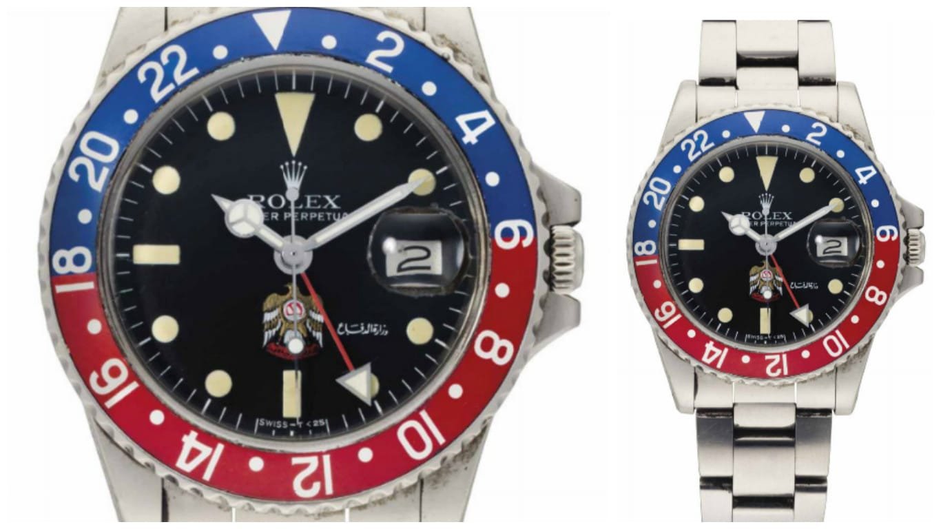 Lot 28 Rolex GMT-Master 1675 Quraysh Hawk
