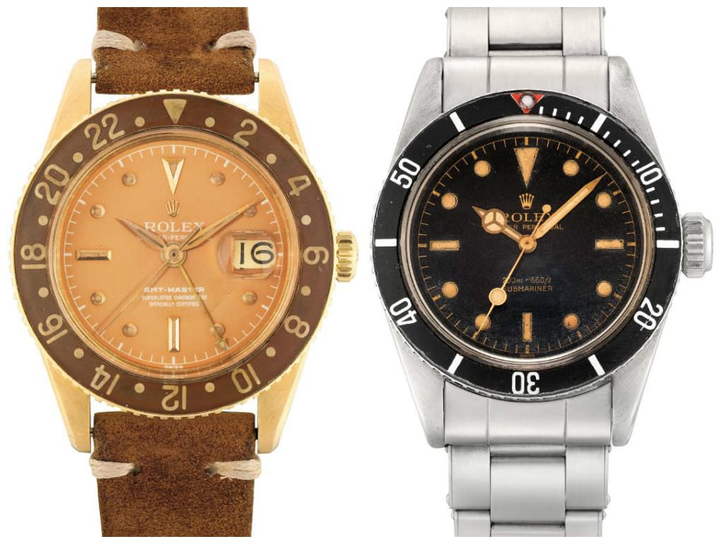 GMT-Master 6542 & Submariner 5510 Big Crown