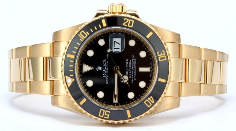 rolex submariner 116618 yellow gold
