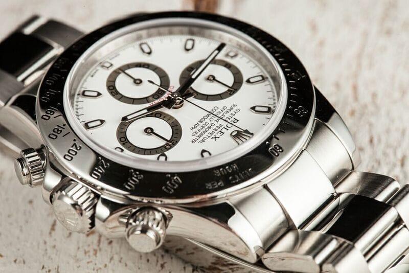 Rolex Daytona 116520 Watch with White Dial