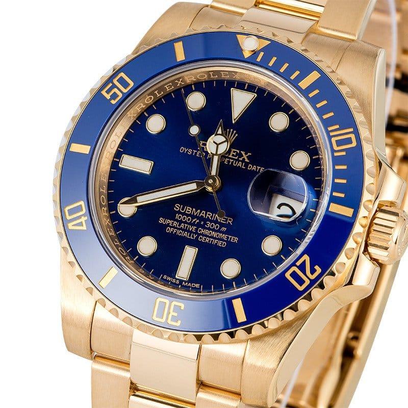 Blue Rolex Submariner 116618LB