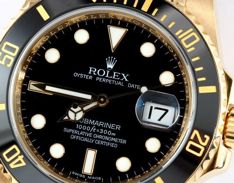 yellow-gold-submariner-116618-dial