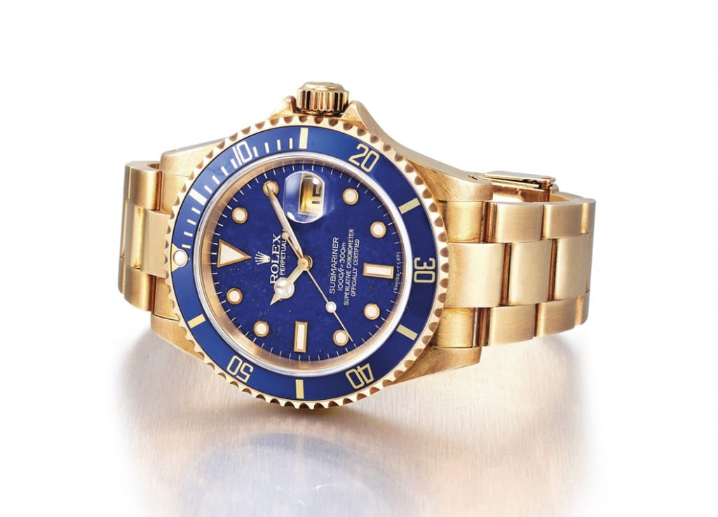 Rolex Submariner 16618 with Lapis Lazuli Dial Sold at Christie's