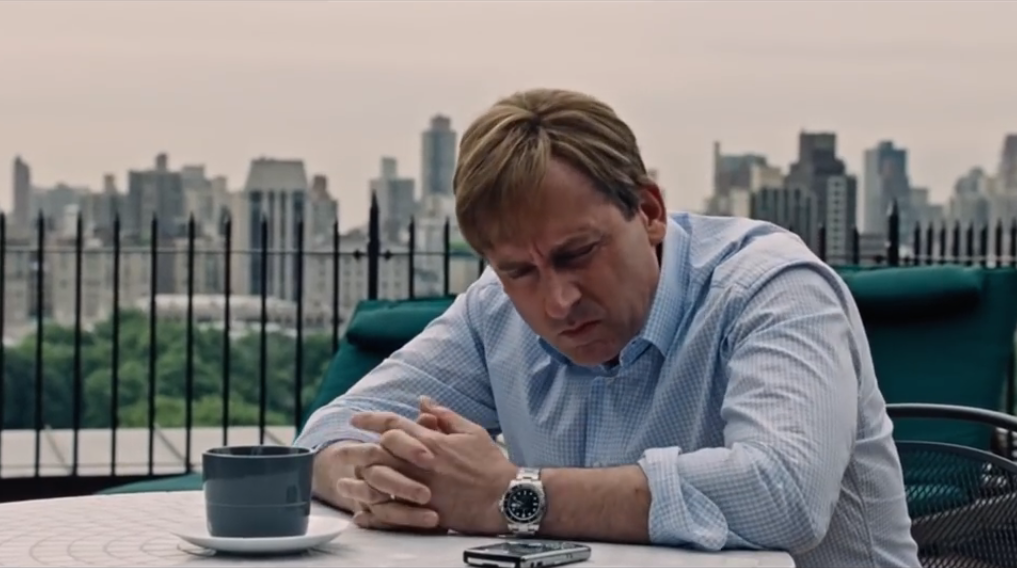 Steve Carell wearing a stainless steel Submariner in The Big Short