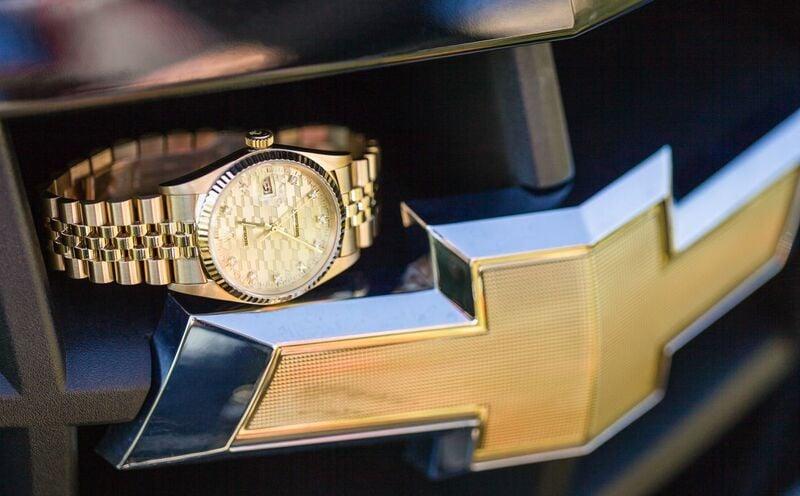 Yellow-Gold-Rolex-Datejust-Chevrolet-Anniversary