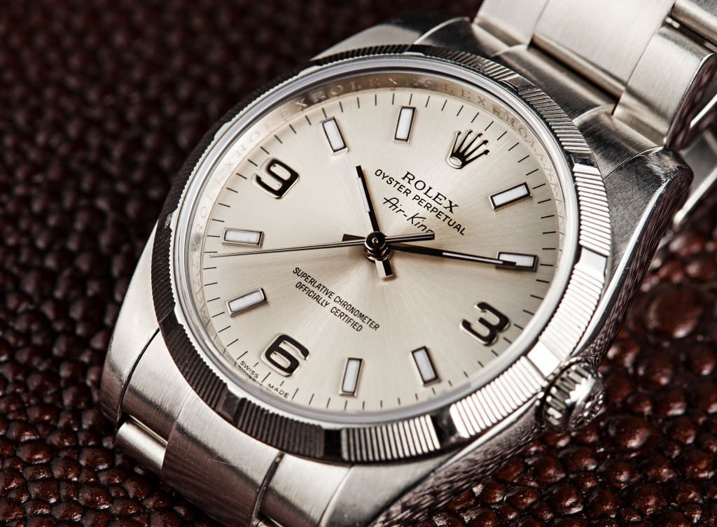 Stainless Steel Rolex Air-King