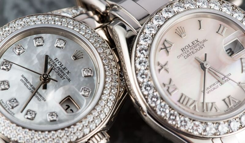 Diamond Rolex Pearlmaster Watches Mother of Pearl Dials