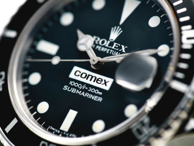 Rolex and Comex worked together.