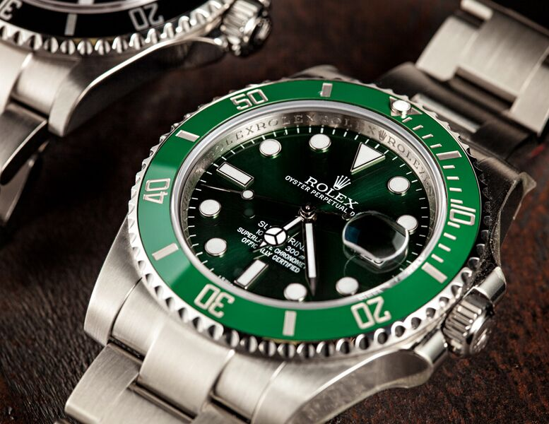A Rolex Submariner 116610LV, Called the hulk.