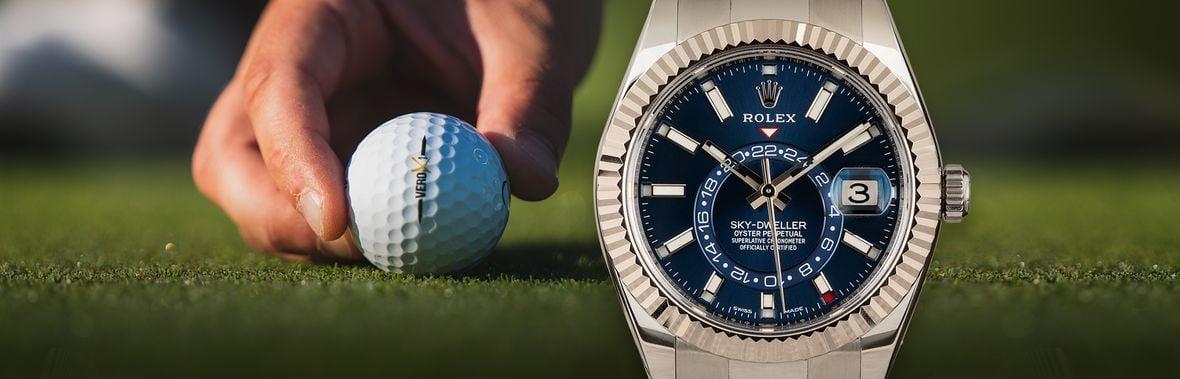 Golf Ambassadors Rolex Sky-Dweller 326934 Blue Dial Stainless Steel
