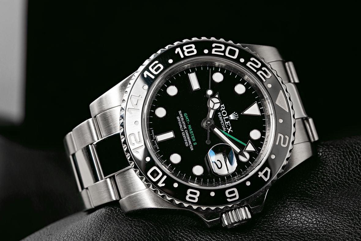Rolex GMT-Master II 116710LN Black Bezel Green Letters