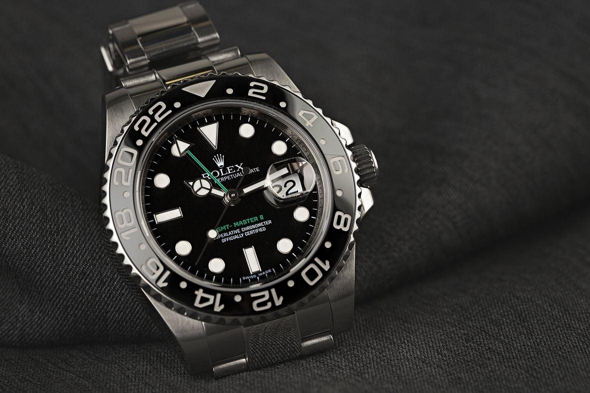 Rolex GMT-Master II 116710LN Stainless Steel Black Bezel Green Hand