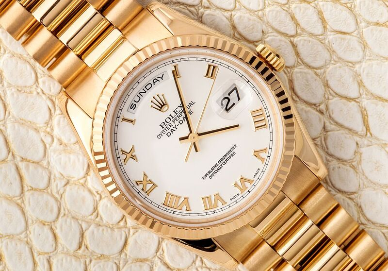 Rolex Yellow gold-day-date-president