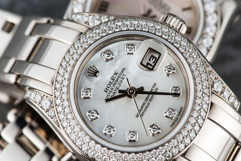 Rolex white gold Pearlmaster