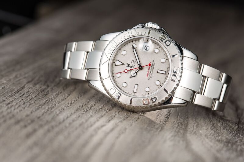 Rolex platinum and stainless steel Yacht-Master