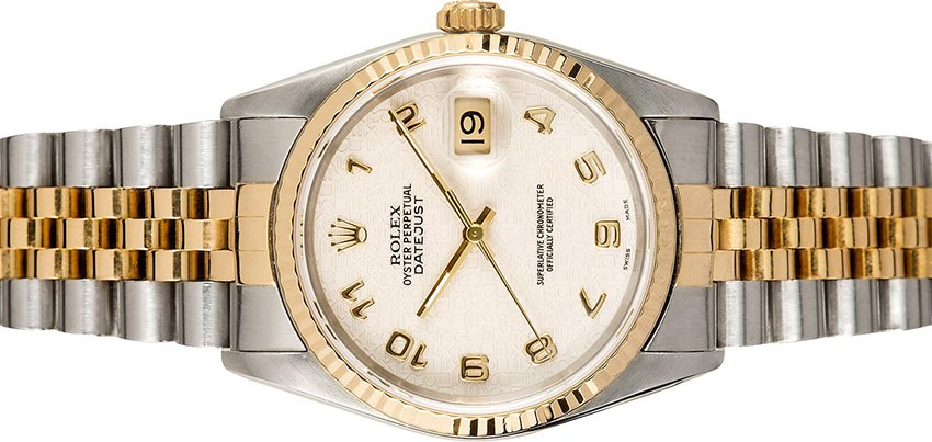 Rolex two tone Datejust 16233 Ivory Jubilee Dial