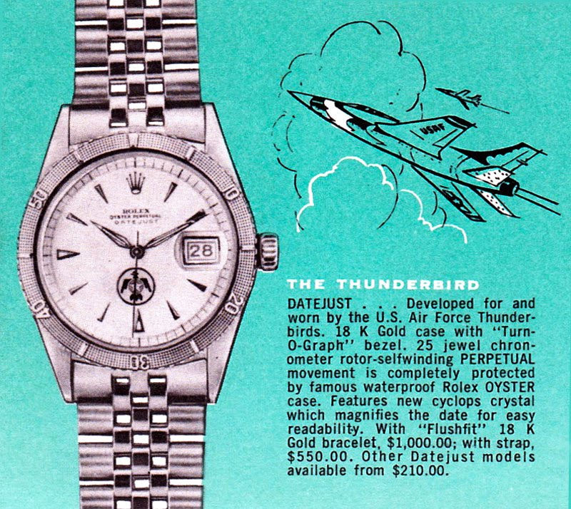 Vintage Rolex Thunderbird Advertising (Image: Jake's Rolex World)