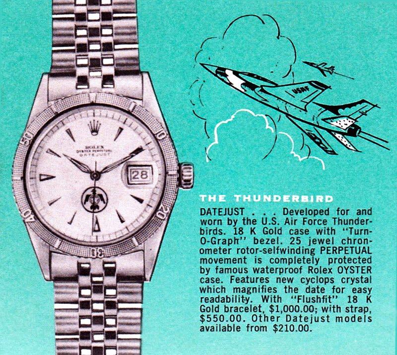 Vintage Rolex Thunderbird Advertising (Image: Jake's Rolex World)