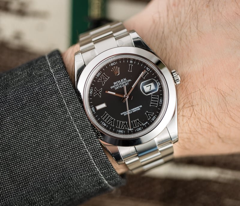a growth spurt 5mm on the datejust ii 116300 bobs watches