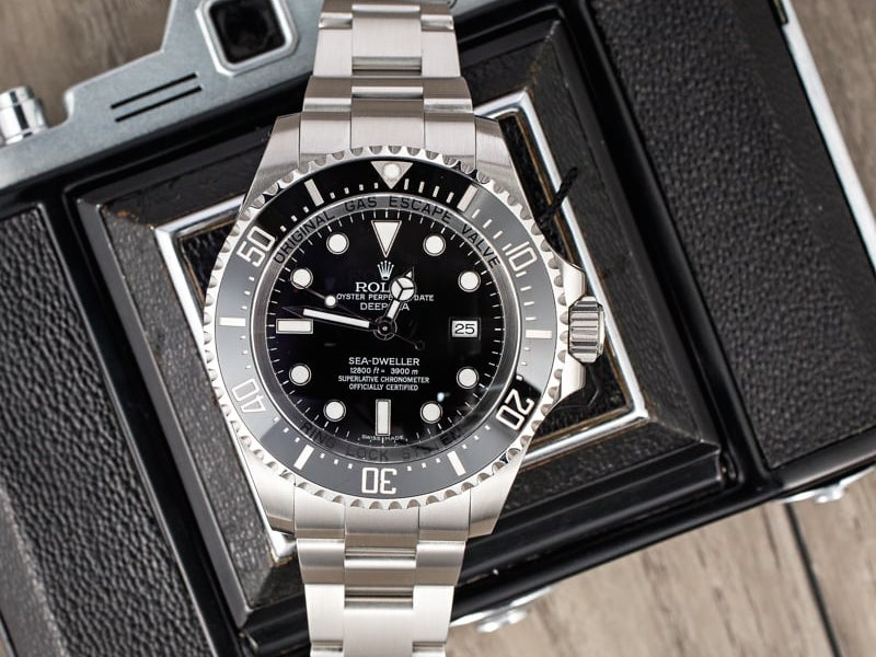 With a limit of going 12800 feet, the Sea-Dweller is a fitting name.