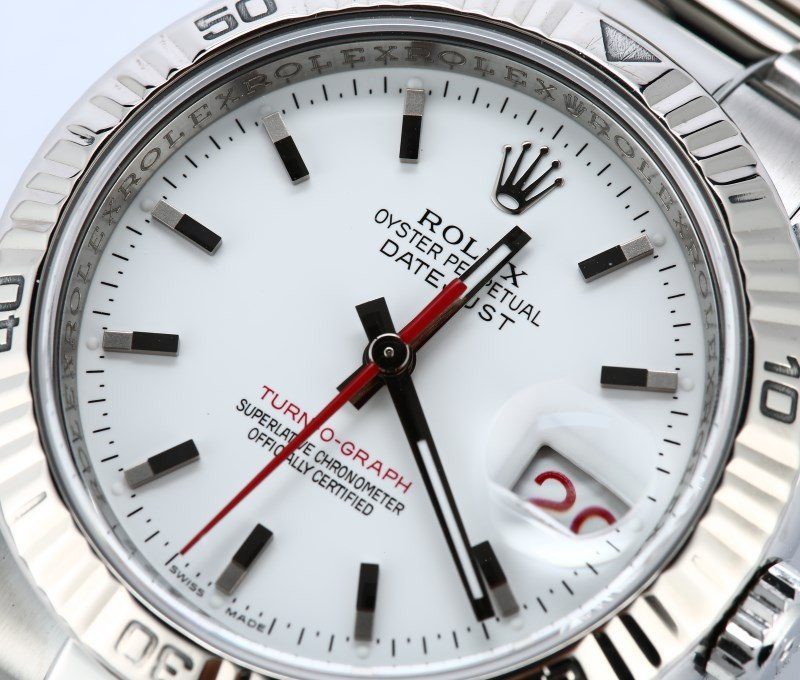 Rolex DateJust Turn-O-Graph 116264 dial.