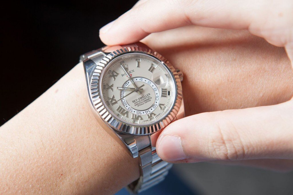 White gold Rolex Sky-Dweller