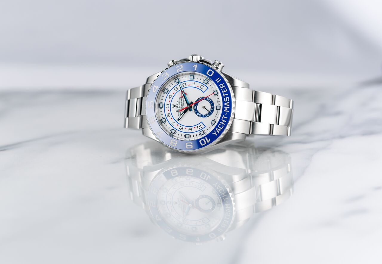 Rolex Yacht-Master II has an oscillator hairspring which increases the watch's accuracy.