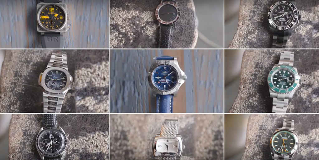 Robert Downey Jr.'s watch collection (Image: GQ)
