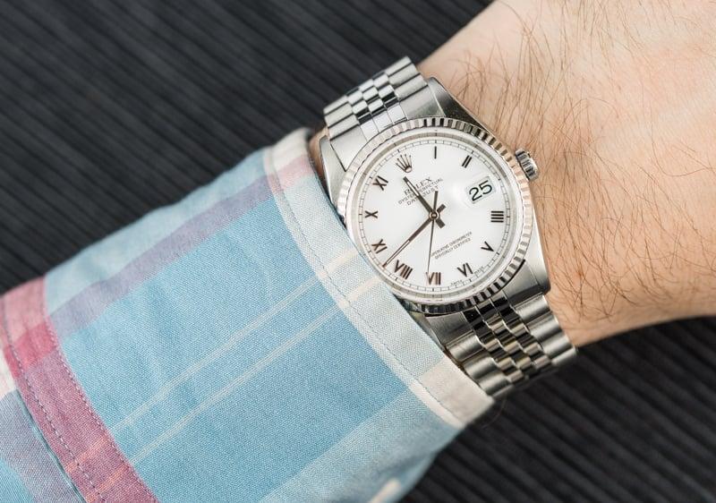 Rolex datejust ref 16234 with jubilee bracelet