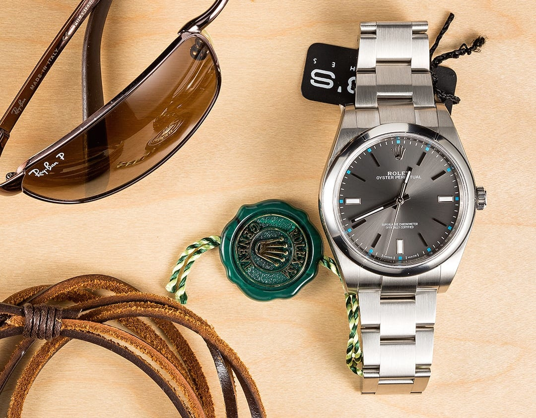 Despite the multiple case sizes the 39mm Oyster Perpetual is our favorite.