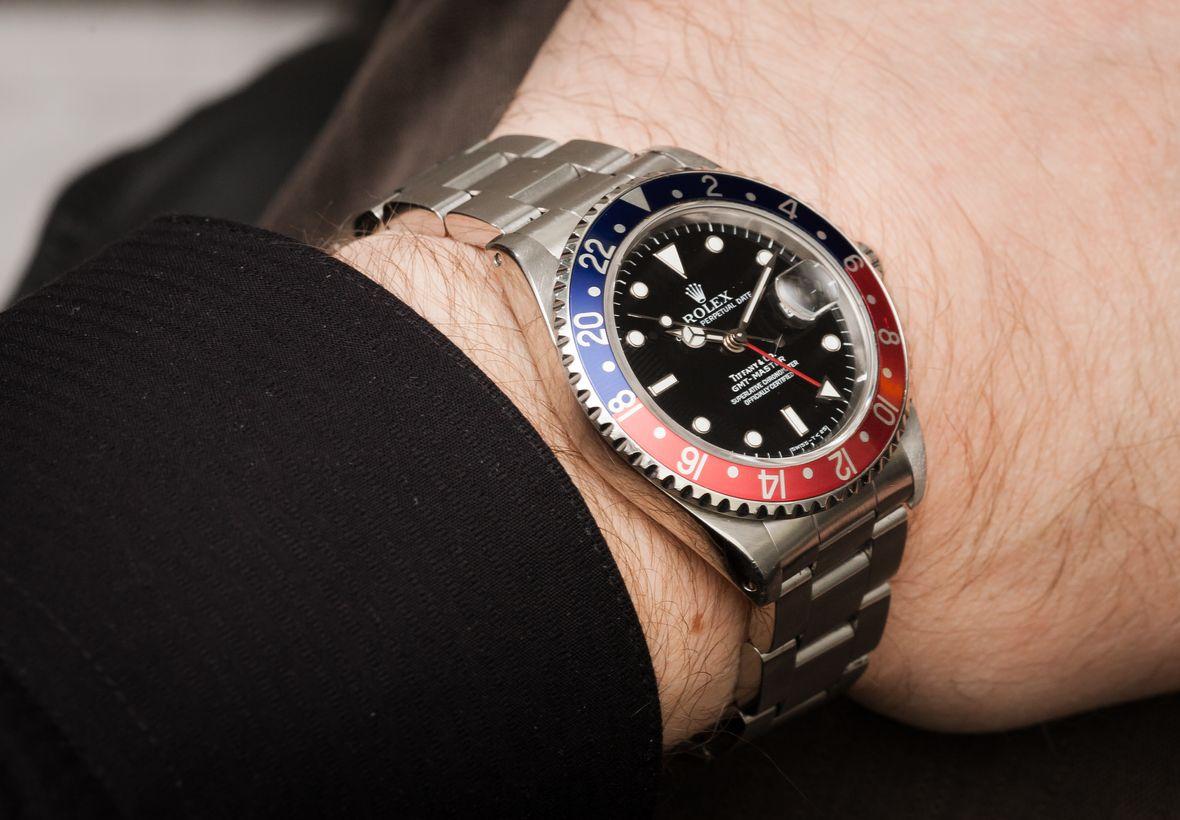 Vintage Rolex Tiffany Dials Stainless Steel GMT-Master Pepsi Bezel 16700
