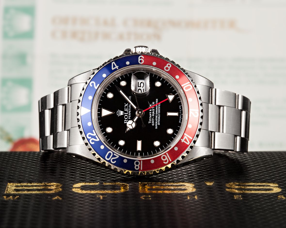 Vintage Rolex Tiffany Dials Pepsi GMT-Master Stainless Steel 16700