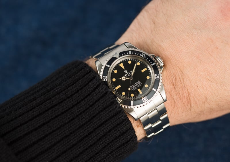 Vintage Rolex Submariner Wrist Shot-Stainless Steel-1967