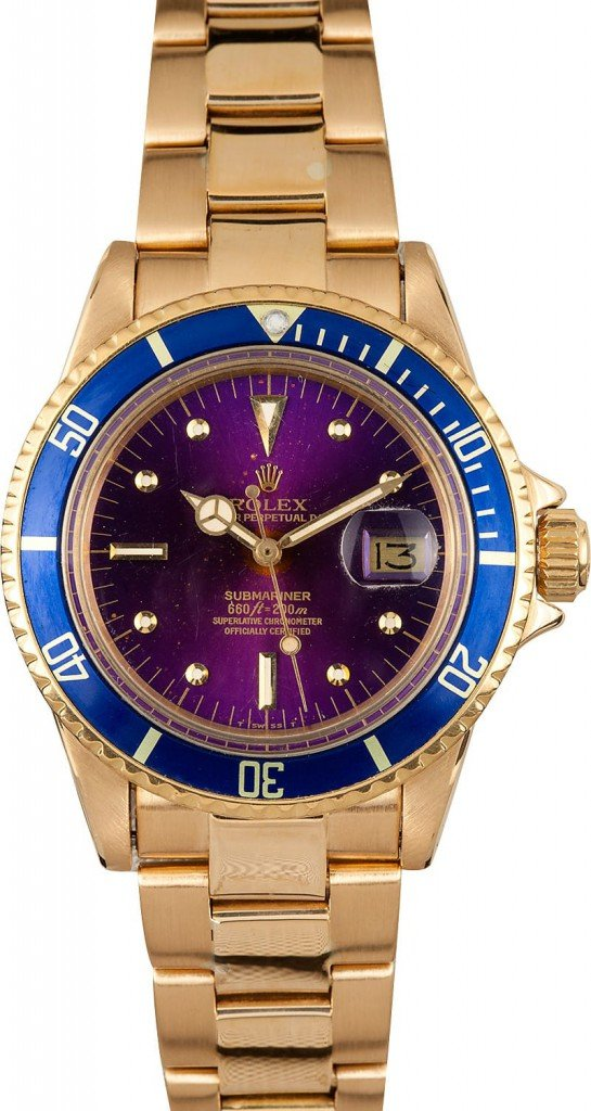 Vintage Rolex Submariner with Aged Tropical Violet Dial