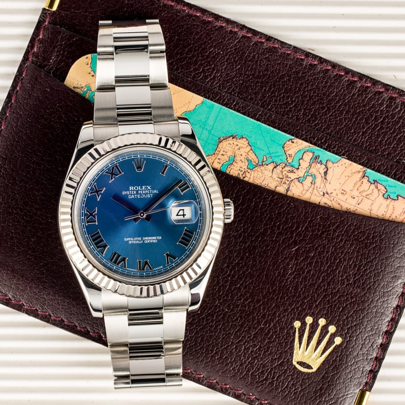 Datejust II 41mm Blue Dial - Bobs Watches