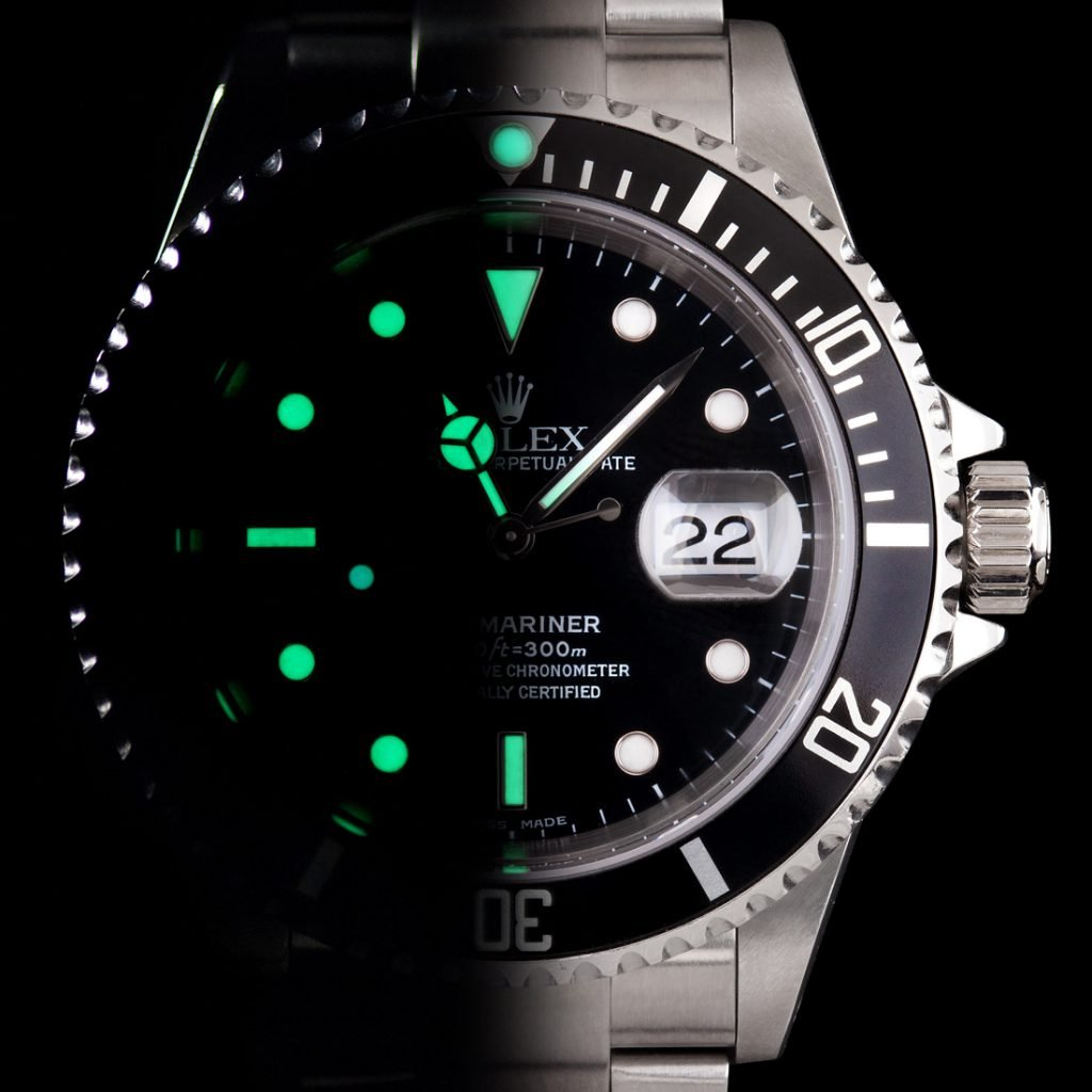 half lume Rolex Watch