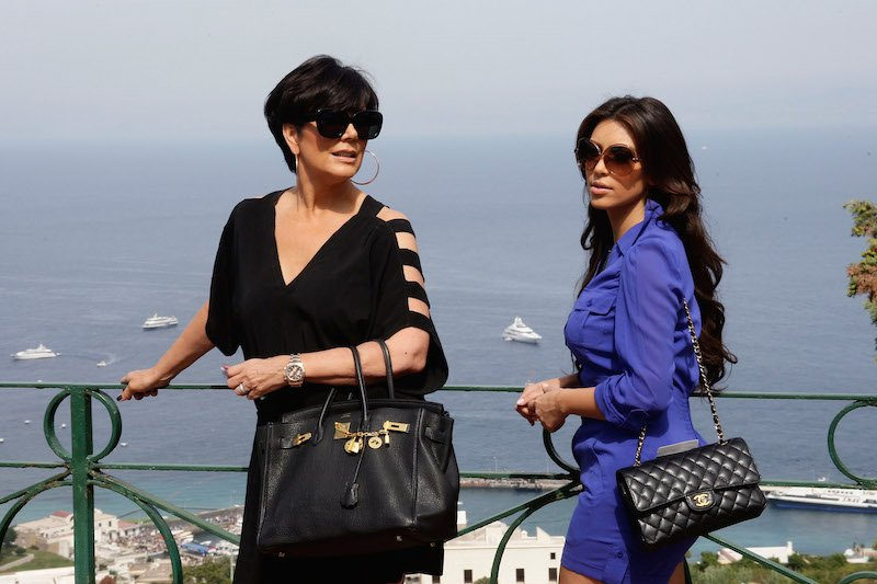 Kris Jenner wearing her Rolex Everose Daytona while in Capri with Kim Kardashian (Image: Zimbio)