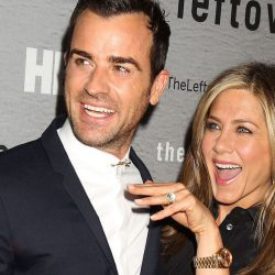 Jennifer Aniston wearing a Rolex Day-Date President with husband Justin Theroux (Image: Mirror.co.uk/Getty)