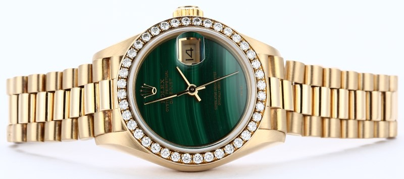 Ladies Datejust President ref. 69138 with a malachite dial