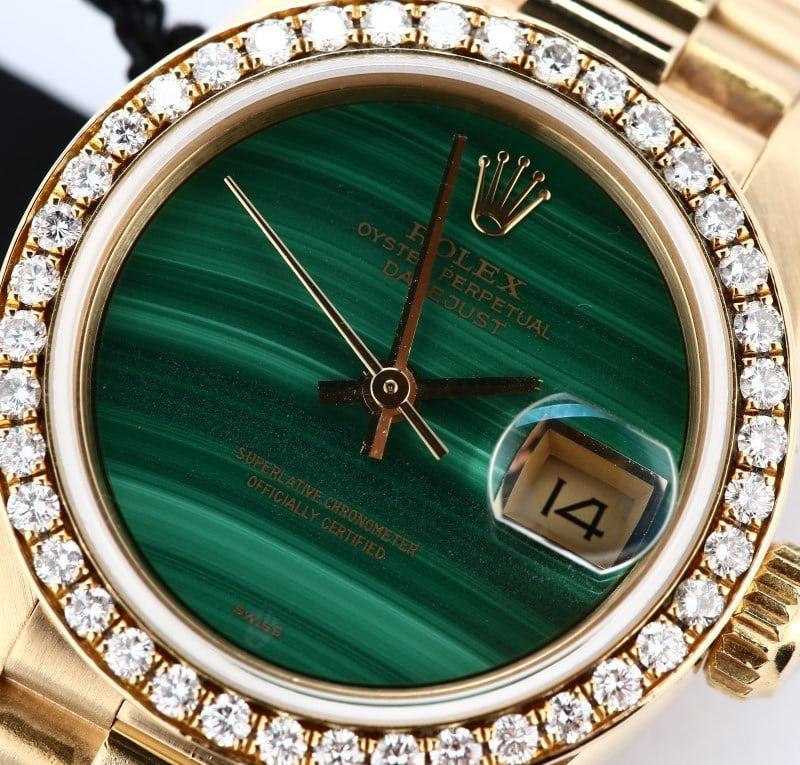 Rolex Lady Datejust President ref. 69138 malachite dial