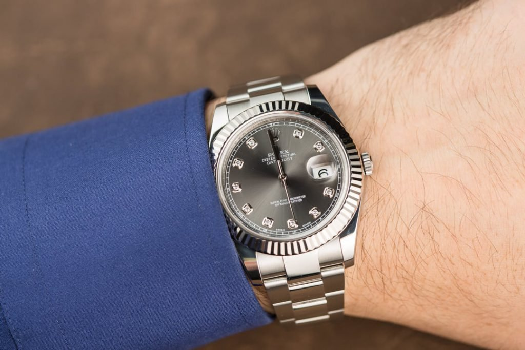 Rolex Datejust II ref. 116334 with diamond dial