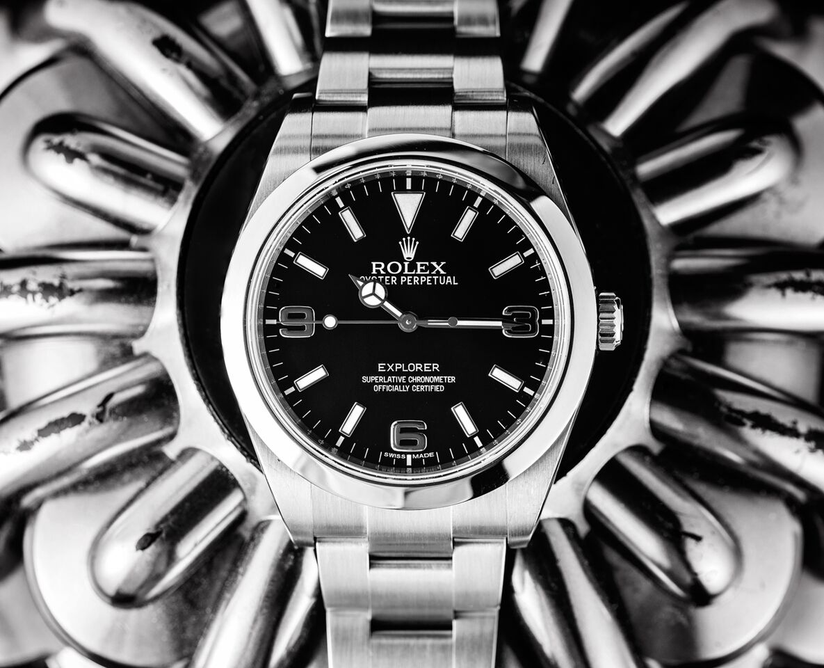The Rolex Explorer is a classic and has a clean touch to it.