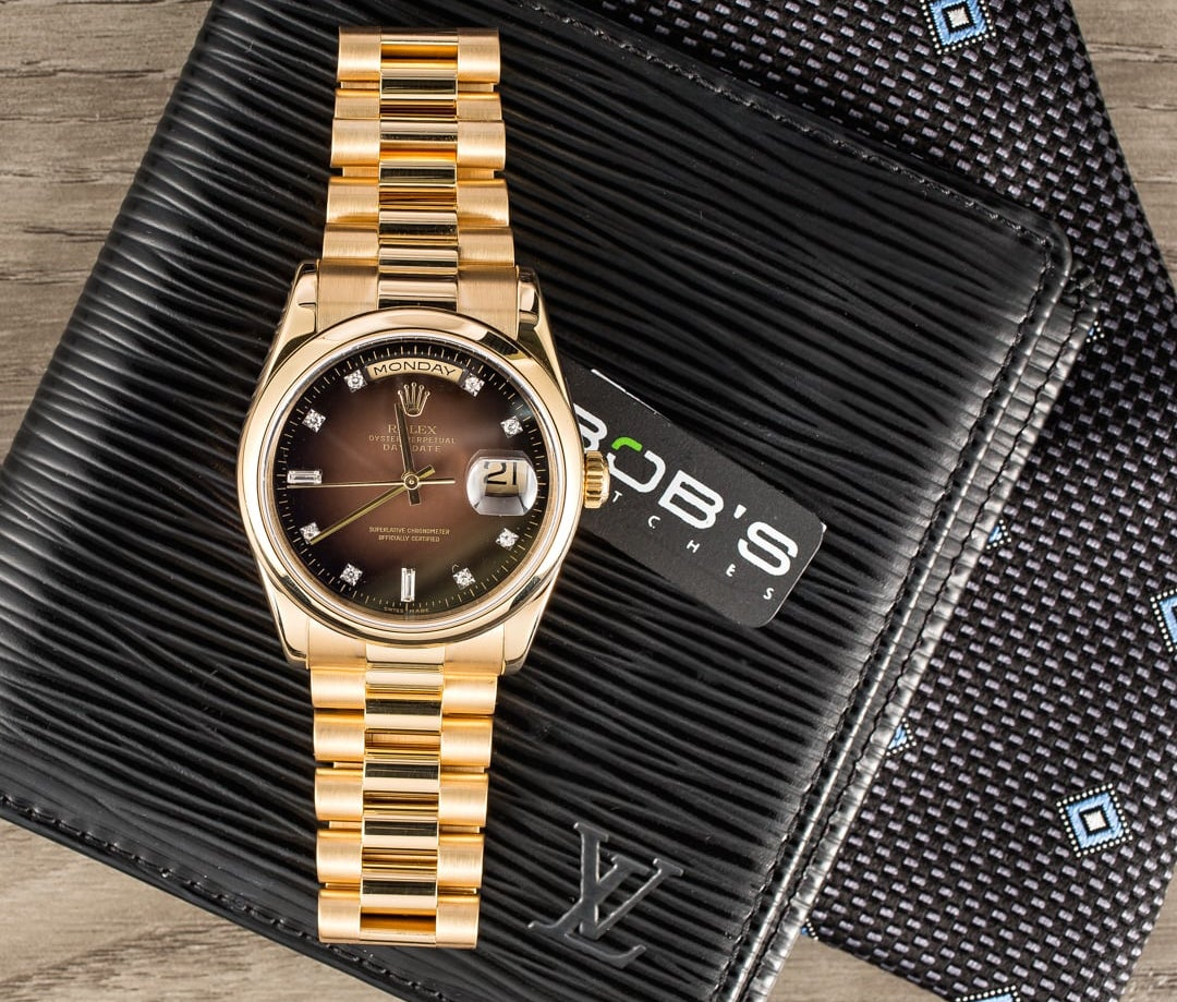 Rolex Date-Date President ref. 118208 with diamond dial