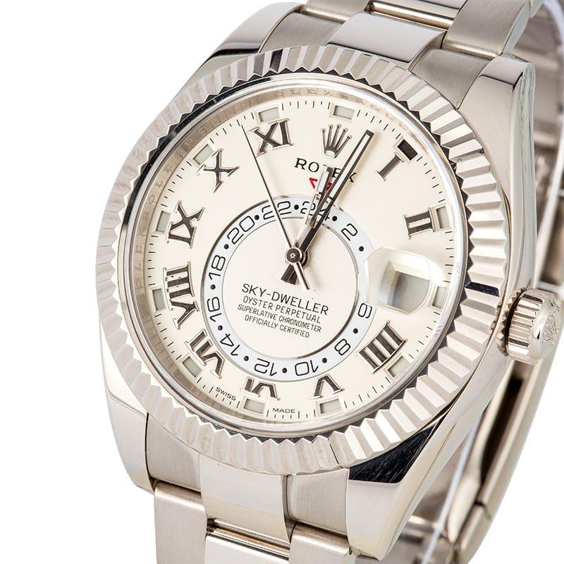 White Gold Rolex Sky-Dweller ref. 326939