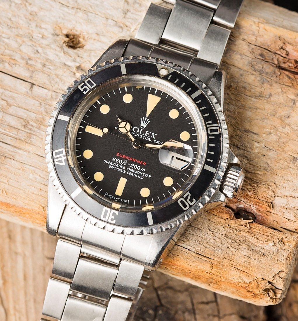 Vintage Watch Rolex Red Submariner 1680