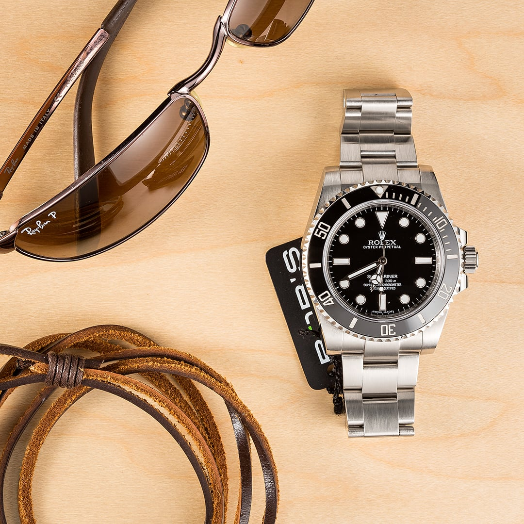 Stainless Steel Black Rolex Submariner 114060