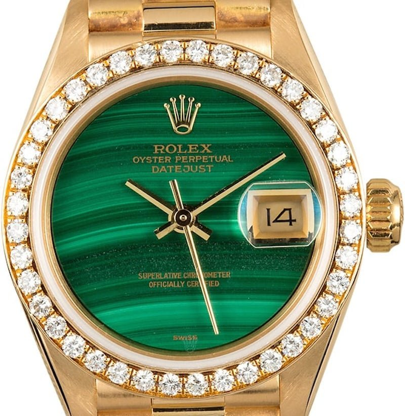 Rolex Ladies Datejust President ref. 69138 with a malachite dial