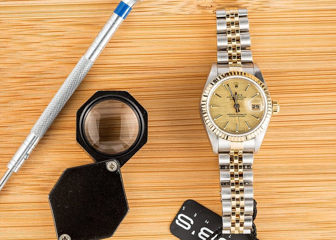 Rolex Lady-Datejust 79173 with a linen dial