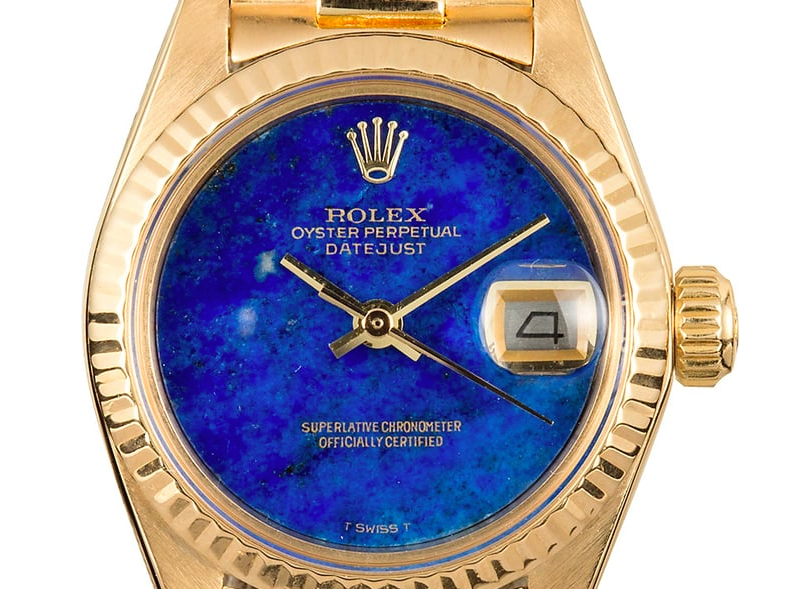 Rolex Datejust President ref. 6917 with a blue lapis lazuli dial
